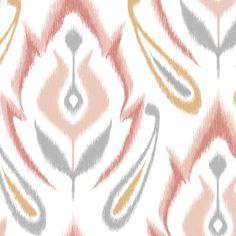 $18 IKAT - Peachy fabric by pattysloniger on Spoonflower - custom fabric