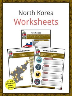 This is a fantastic bundle which includes everything you need to know about the North Korea across 26 in-depth pages. These are ready-to-use North Korea worksheets that are perfect for teaching students about North Korea, officially the Democratic People's Republic of Korea, which is a country in East Asia which occupies 55% of the Korean Peninsula land area. It is bordered by the Republic of Korea, commonly known as South Korea, to the south, and China and Russia to the north. North Korean Won, North Korea Facts, Geography Worksheets, Korean Peninsula, Korean People, Korean War, Fifth Grade, Social Studies, South Korea