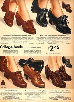 Sears Catalogue 1942...  Is it just me, or do these shoes look cool and comfy?