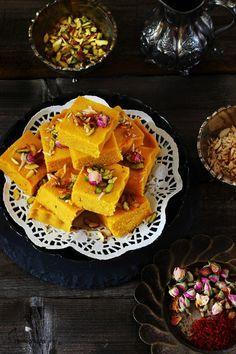 Jagruti's Cooking Odyssey: Mawa Kesar Kopra/Topra Paak RAKSHA BANDHAN / RAKHI SPECIAL - Indian style Coconut fudge with Infused Saffron