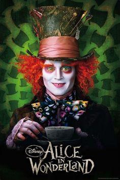 Alice in Wonderland Movie Poster Mad Hatter Tea Cup | eBay