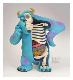 Esculturas: Anatomía de personajes por Jason Freeny
