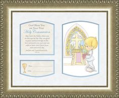 Precious Moments Holy Communion Poem Plaque for Boy Personalize John 635 ** You can find out more details at the link of the image.
