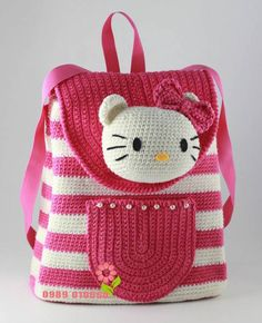 AMP-Startseite – Emine Demir – Join the world of pinThis Pin was discovered by СаиHello Kitty Crocheted Back PackBags – Knitting world and crochet Crochet Girls, Crochet Baby Clothes, Cute Crochet, Crochet For Kids, Crotchet Bags, Knitted Bags, Crochet Handbags, Crochet Purses, Crochet Basket Pattern