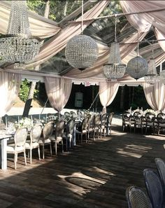 All our crystal empire chandeliers & orbs in action!  Let's not forget that romantic draping too! #glamwedding #newhampshire