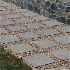 Use Pebbles Between The Pavers To Create Texture And