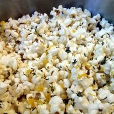 In our household, some nights just call for a good movie. Maya and I love my recipe for Spicy Dill Popcorn, a fun twist on the classic American snack food. I came up with this recipe while working at Aquavit, and I have been munching on it ever since. Snacks To Make, Healthy Work Snacks, Tasty Snacks, Recipes Appetizers And Snacks, Snack Recipes, Party Recipes, Chef Recipes, Copycat Recipes, Desserts