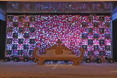 Looking for Wedding backdrops? Melting flowers provide the most unique designs in Backdrop decorations mixed with appropriate lighting for the best photography. Contact us to know the best backdrops suitable for your wedding. Wedding Stage Decorations, Diy Wedding Entrance, Engagement Stage Decoration, Reception Stage Decor, Wedding Stage Backdrop, Wedding Backdrop Design, Wedding Stage Design, Backdrop Decorations, Reception Backdrop