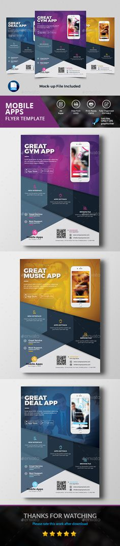 Mobile App Flyer - Commerce Flyers Download here: https://graphicriver.net/item/mobile-app-flyer/18979347/?classicdesignp