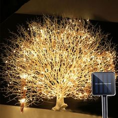 Outdoor 2Mx10 200LED Solar Vines Branch LED String Fairy Light Outdoor Garden Fence Tree LED String Fairy Branch Light Material: ABS/PVC transparent line, Copper string light Component part: Waterproof plug / copper string light LED interval: 200 CM Drops: 10 Drops LED quantity: 200LEDS LED view angle: 360° Power supply: Solar Powered Made of high quality copper and using high-brightness. Long life service LED lights, safe, waterproof, energy saving and eco-friendly. Twining around flowers, plan Outdoor Solar Lamps, Outdoor Fairy Lights, Outdoor Lighting, Indoor Outdoor, Starry Lights, Icicle Lights, Can Lights, Solar String Lights, String Lights Outdoor