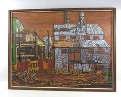 shopgoodwill.com: Abstract Deserted Factory Painting By R. Nilsen