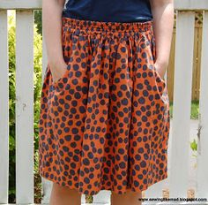 Great pattern for skirt portion of a gameday dress. LOVE having pockets! Sewing Like Mad: Cotton summer skirts.
