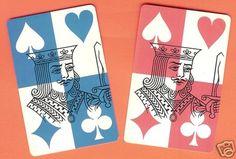 Pair of Vintage Swap Playing Cards • Kings on eBay!