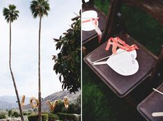 fans for out door wedding photo by Katie Osgood #PalmSprings  #outdoorwedding
