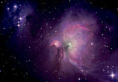 Orion Nebula+ luminance layer    The Orion Nebula (also known as Messier 42, M42, or NGC 1976) is a diffuse nebula situated south of Orion's Belt in the constellation of Orion