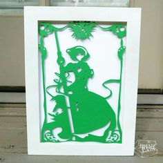 """Rayearth Fuu Layered Paper Cut Art Piece 5""""x7"""" Shadowbox FrameThese Paper CutOuts are designed using Scale Vector Graphics and cut using a paper cutter for precision details. Than by hand they are arranged"""