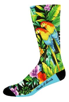 Couleurs Crew Socks with Black Heel & Toe Item #:  SOX-500CCHT  100% Made and Decorated in the USA