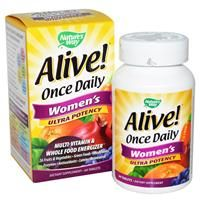 Nature's Way, Alive! Once Daily Women's Ultra Potency, Multi-Vitamin & Whole Food Energizer, 60 Tablets - iHerb.com