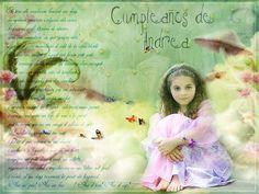 invitacion de cumpleaños para la niña ANDREA.