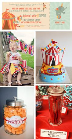 Circus Birthday Party Inspiration #circus #birthdayparty #inspiration