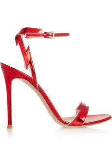 It's all about making a statement! Gianvito Rossi Patent-leather sandals | NET-A-PORTER