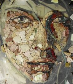 Fliesen, Malerei, Herausforderungen, Gesicht, Zeichnungen, Ideen,  Stein Mosaik,
