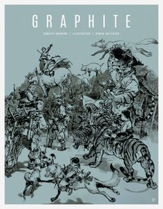 GRAPHITE issue 01 - GRAPHITE is a quarterly publication featuring inspirational artwork, interviews and tutorials on drawing, sketching, and illustration. This debut issue features cover artwork by Kim Jung Gi, interviews with Sam Wolfe Connelly and Matthew Filipkowski, and detailed tutorials on narrative illustration, urban sketching, sci-fi art, and line drawing with ink.