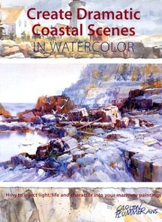 How to paint seascapes and beaches in Watercolour. A seascape might seem like a relatively simple subject but it can have some deceptively complex problems. Watercolor Paintings Nature, Watercolor Paintings For Beginners, Beach Watercolor, Watercolour Tutorials, Seascape Paintings, Watercolor Techniques, Landscape Paintings, Painting Tutorials, Watercolours