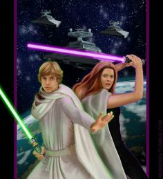 I know that Mara Jade is now EU and completely non-canon, but those two are so good together. And, despite that I like the canon old bachelor Luke with . Stay by my side Thrawn Trilogy, Mara Jade, Starwars, Star Wars Rpg, Cartoon Girl Drawing, Star Wars Wallpaper, Marvel, The Force Is Strong, Luke Skywalker