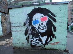 Ґрафіті на смітнику, вул. Шота Руставелі. http://rockhouse.com.ua/grafiti-na-smitnyku-vul.-shota-rustaveli — з Bob Marley в Kyiv