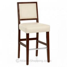 The Jasper Leather Bar Stool Walnut & Cream pairs a divine walnut finished frame with cream bonded real leather upholstery. Leather Bar Stools, Bonded Leather, Walnut Finish, Laminate Flooring, Old And New, Wooden Frames, Home Remodeling, Upholstery, Traditional
