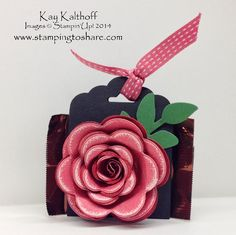 Stamping to Share: Spiral Rose Ghirardelli Treat Holders with How To Video
