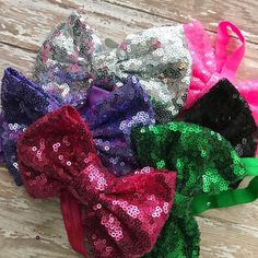 """Set of 6 5"""" sequin Headbands.  1 set available.  Comment MINE then DM me your email."""