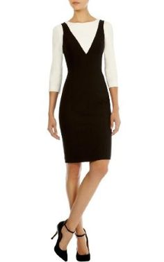 Karen Millen Dresses for Women Crepe Dress, Peplum Dress, Corporate Chic, Karen Millen, Color Blocking, Dresses For Work, Fashion Outfits, Clothes For Women, Lady