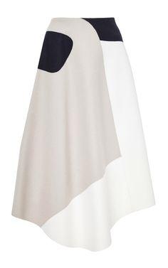 Siku wool blend appliqué skirt by TIBI Now Available on Moda Operandi
