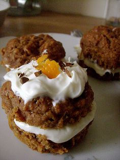 Fat Free Mini Zesty Carrot Cakes