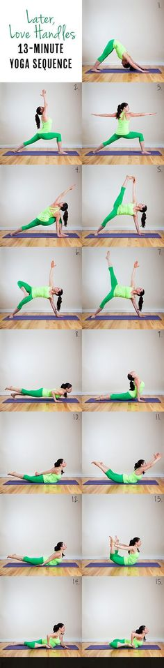Let got of those love handles,a yoga sequence to trim away your tummy #yogasequences