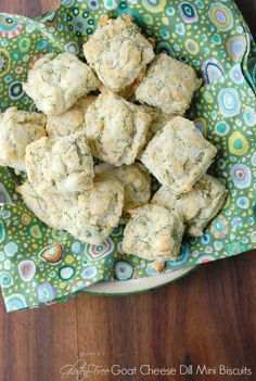 Goat Cheese Dill Mini Biscuits gluten-free - BoulderLocavore.com #spring #Easter #glutenfree