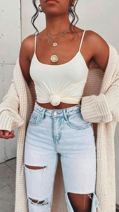 Trendy Summer Outfits, Cute Comfy Outfits, Cute Fall Outfits, Stylish Outfits, Cute Winter Outfits Tumblr, Summer Jean Outfits, Cute Shorts Outfits, Cute Summer Clothes, Outfit Ideas Summer
