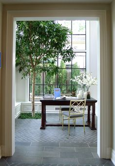 """Love this indoor tree-I saw this in """"House and Home"""" a couple years back it was a house designed by Brian Gluckstein I think!"""