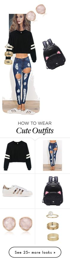 """""""Follow up toby_feder on Instagram for more lovely outfits"""" by elenaday on Polyvore featuring adidas Originals, Miss Selfridge and Monica Vinader"""