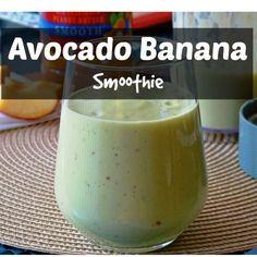 Avocado Banana Smoothie Recipe. Great energy booster!