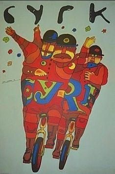 Polish Poster 3 Bikers, Jan Sawka, 1974