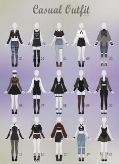 New Fashion Drawing Clothes Outfit Ideas Tumblr Outfits, Anime Outfits, Cute Outfits, Casual Outfits, Girl Outfits, Anime Inspired Outfits, Female Outfits, Men Casual, Hijab Casual