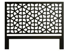 Try this black wooden headboard with an open-pattern design if your bed rests against a window #hgtvmagazine http://www.hgtv.com/bedrooms/vern-yips-picks-for-the-best-headboards/pictures/page-9.html?soc=pinterest#