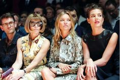 Anna, Kate, & Charlotte Casiraghi at Gucci S/S 2015 show