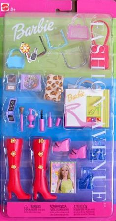 Barbie FASHION AVENUE ACCESSORIES w Boots, Shoes, Purses, Cosmetics & MORE! (2000) Barbie http://www.amazon.com/dp/B005PZCWWE/ref=cm_sw_r_pi_dp_zSvXtb0Y2ASNBSFM