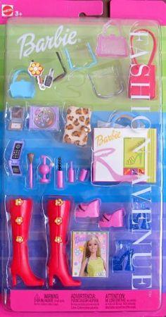 Barbie FASHION AVENUE ACCESSORIES w Boots, Shoes, Purses, Cosmetics & MORE! (2000) Barbie http://www.amazon.com/dp/B005PZCWWE/ref=cm_sw_r_pi_dp_zSvXtb0Y2ASNBSFM