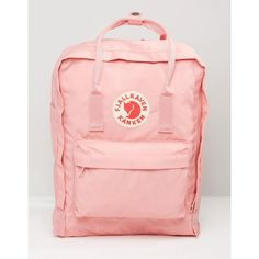 Fjallraven Classic Kanken Backpack In Pastel Pink (€89) ❤ liked on Polyvore featuring bags, backpacks, pink, pastel pink backpack, day pack rucksack, fjallraven bag, oversized backpacks and fox bag