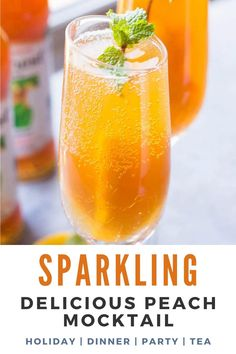 Easy Mocktail Recipes, Mocktail Drinks, Drink Recipes Nonalcoholic, Non Alcoholic Drinks, Cocktail Recipes, Best Mocktails, Peach Drinks, Summer Drinks, Margarita Bebidas